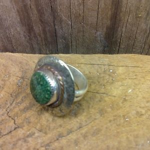 Hand crafted ring - sterling silver and copper